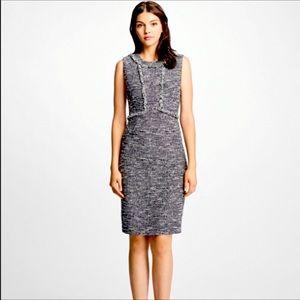 Brooks Brothers Tweed Fringe Dress